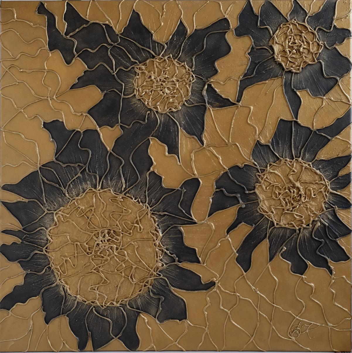 Gold Sensation strukturalny obraz akrylowy na płótnie lnianymArka, strukturalny obraz akrylowy na płótnie lnianym