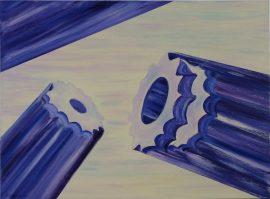 Tryby, obraz akrylowy na płótnie lnianym