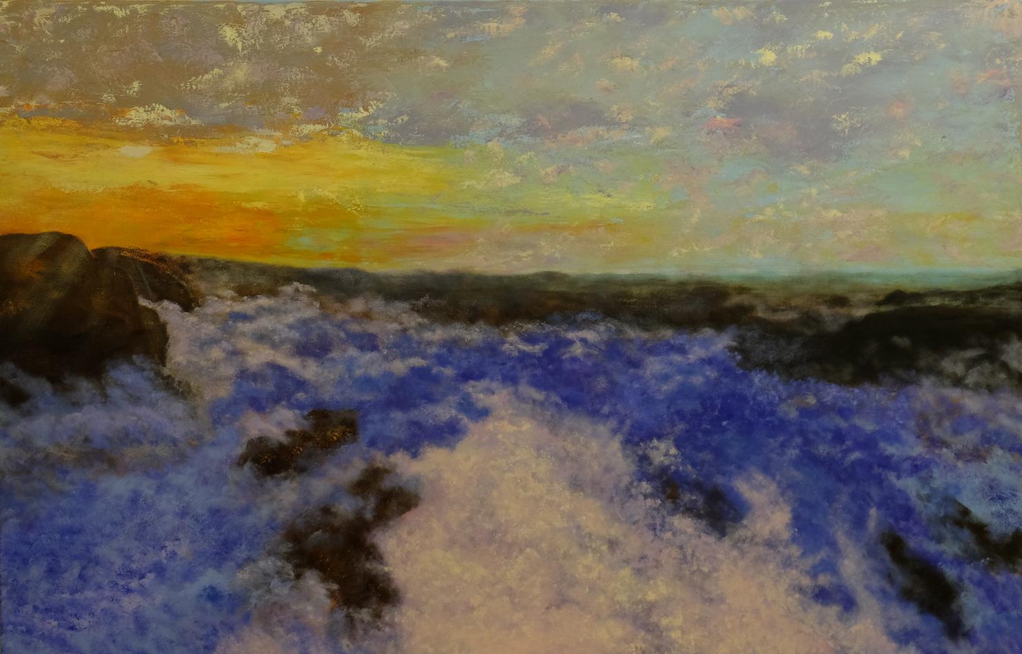 Pejzaż Bezkres, obraz akrylowy na płótnie lnianym, malarstwo nowoczesne