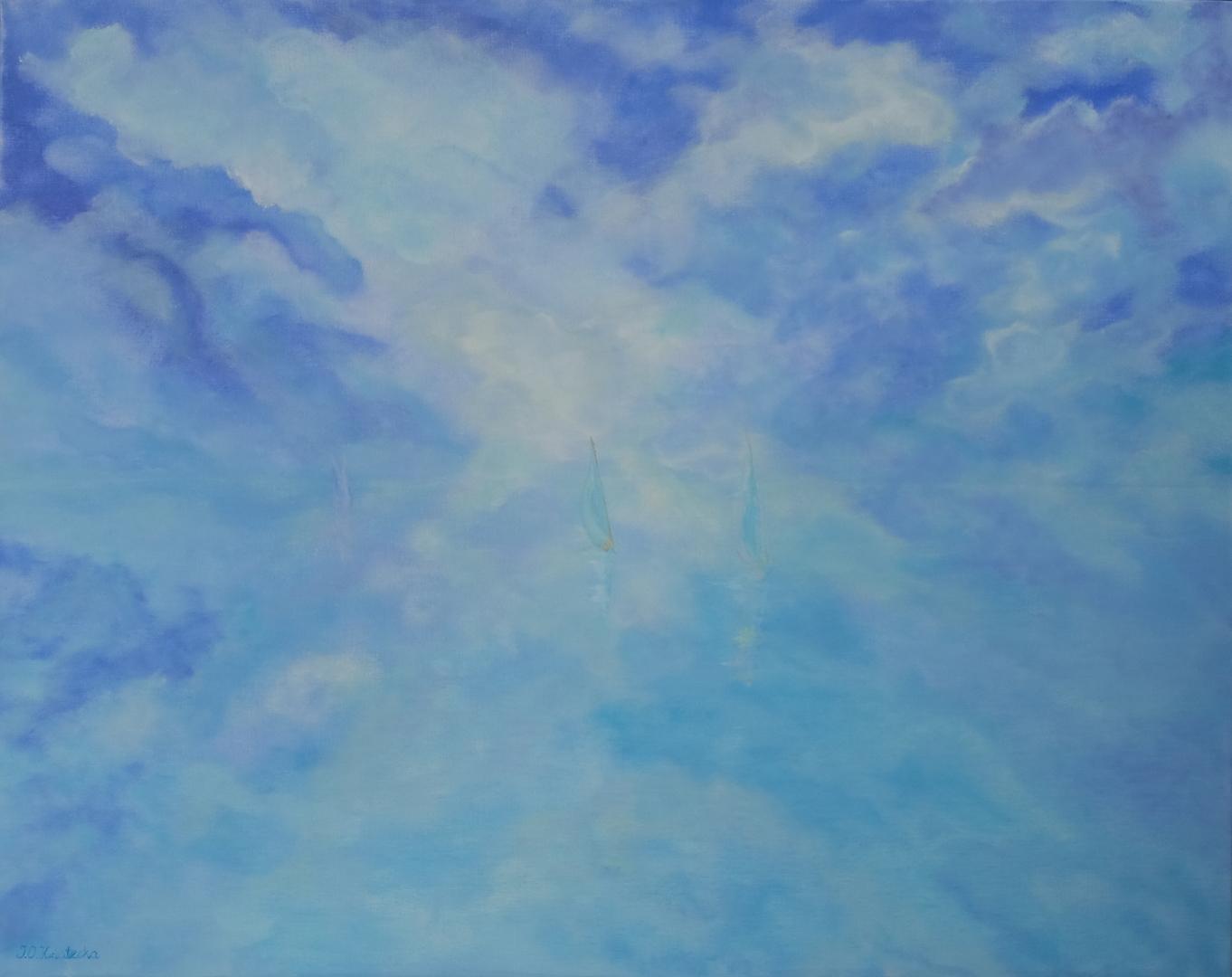 Obraz Blue Sky, obraz akrylowy na płótnie lnianym, malarstwo nowoczesne